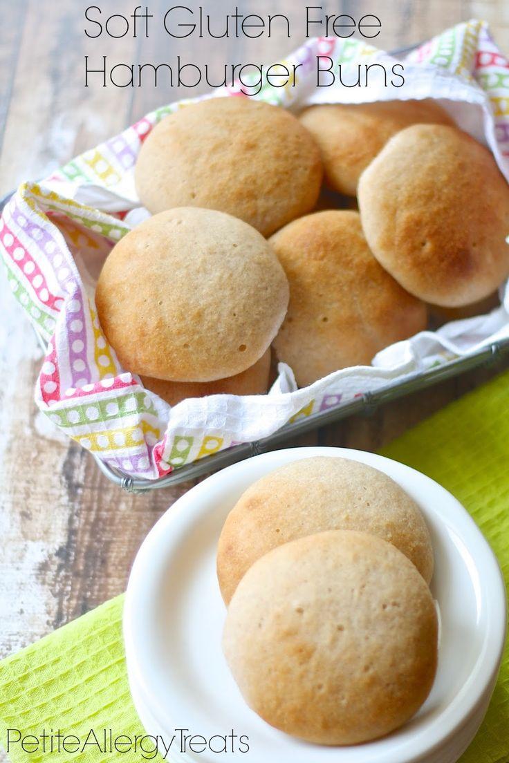 Soft Gluten Free Hamburger Buns and DIY Gluten Free Flour Mix