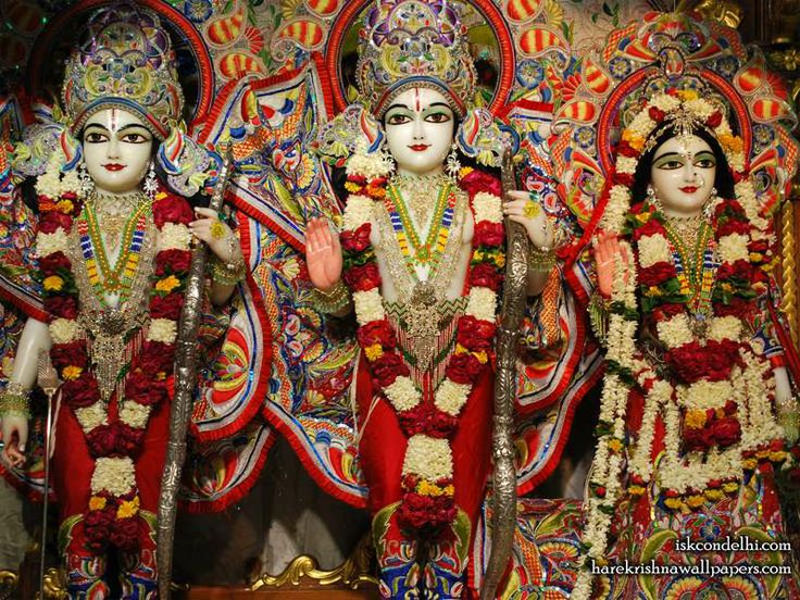 Sri Sri Sita Rama Laxman Wallpaper    Click here to get more sizes...http://harekrishnawallpapers.com/sri-sri-sita-rama-laxman-iskcon-delhi-wallpaper-008/   TO SUBSCRIBE: You can also subscribe and get daily quotes in your mail box : http://harekrishnacalendar.com/subscribe