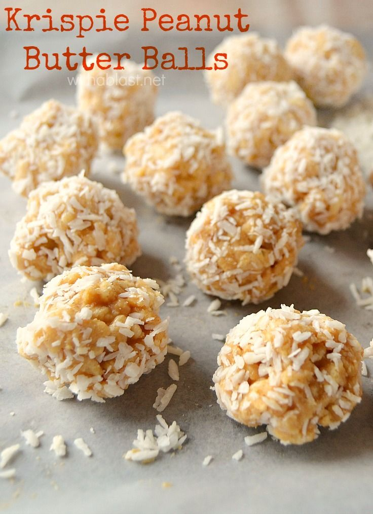 Krispie Peanut Butter Balls ~ Like Peanut Butter Cups? Then you will love this crunchy variation of Krispie Peanut Butter Balls and they are so quick & easy to make !