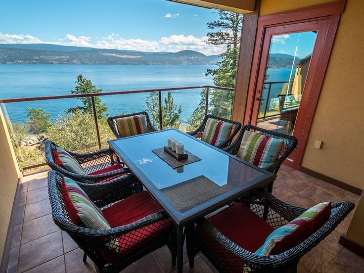 http://www.vrbo.com/391318#rates This is a private rental so not sure if we could find two of them but if we did it could get two and accommodate Arnold and Sylvia as well. Kelowna Vacation Rental - VRBO 391318 - 3 BR Thompson Okanagan Condo in Canada, Luxury Pointe Beach Villa - Lake Okanagan Resort - Great View!