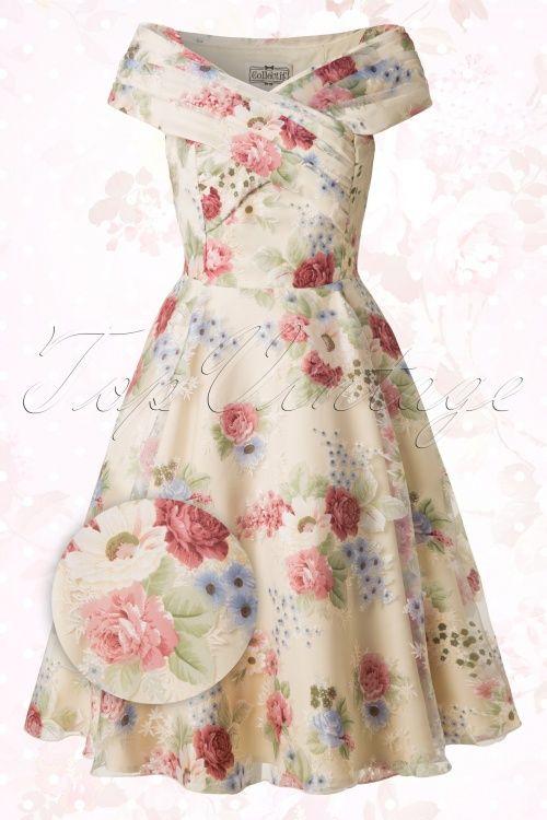 Collectif Clothing Dorothy English Garden Swing Dress 14759 20150109 0008WAV