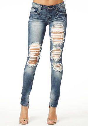 Best 20  Ripped skinny jeans ideas on Pinterest | Skinny jeans ...