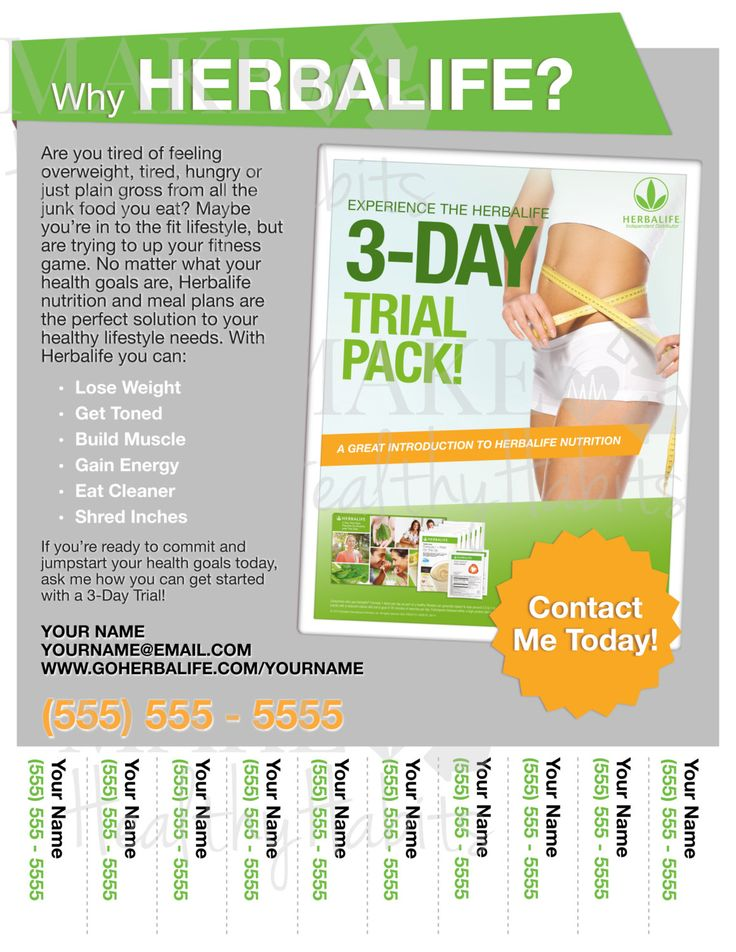 Printable Herbalife Flyer by KellyLynnetteDesigns on Etsy http://www.goherbalife.com/BMWade