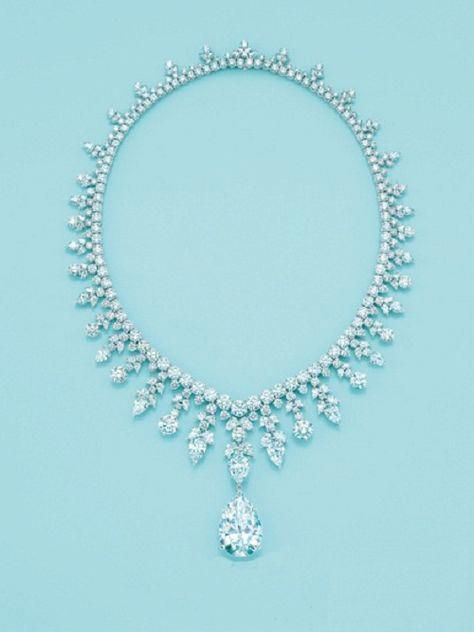 d877f40b9 Tiffany and Co. Majestic Diamond Necklace . One of Top 10 Most Epensive  Necklaces the highlight is a 41ct. Pear shaped Diamond Pendant and sells  for $2.5 ...