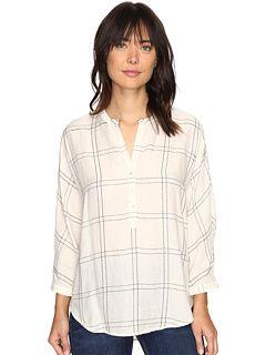 Lucky Brand White Plaid Shirt