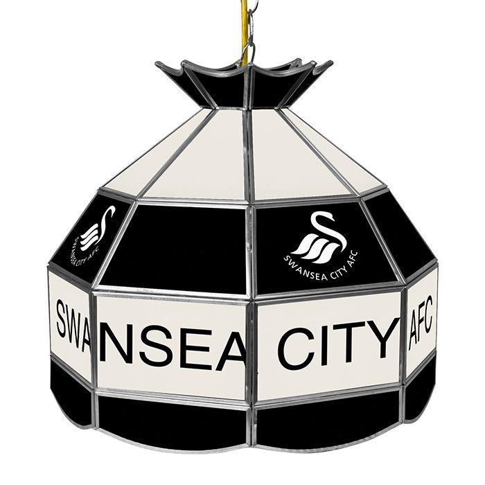 Trademark Premier League Swansea City 16 Inch Handmade Tiffany Style Lamp