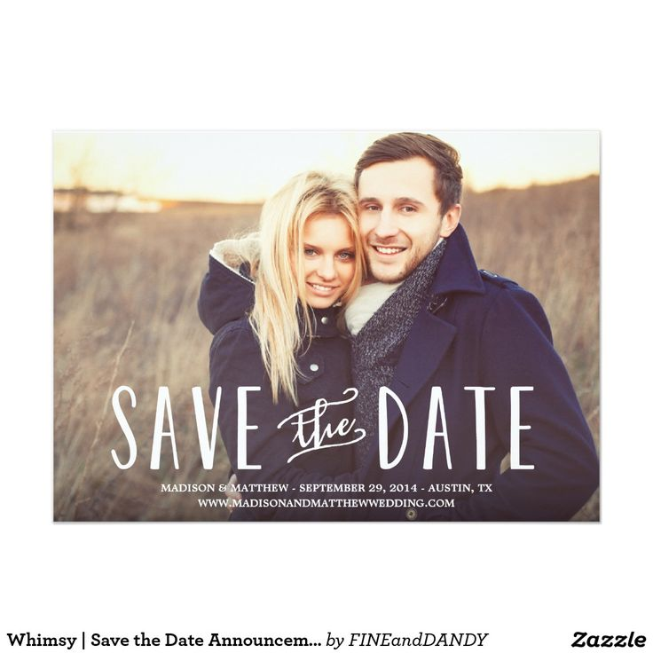 118 best Save the date wedding invitations images on Pinterest ...