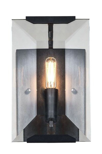 1212 Monaco Collection Wall Sconce W:6in H:10in Ext: 7in Lt:1 Flat Black (Matte) Finish. 1212 Monaco Collection Wall Sconce W:6in H:10in Ext: 7in Lt:1 Flat Black (Matte) Finish  Watts: Lumens: Lamp Type: Shape: Style:Transitional Light Bulbs:1 Bulb Type:E12 Bulb Wattage:40 Max Wattage:40 Voltage:110V-125V Finish:Flat Black (Matte) Crystal Trim:Glass Crystal Color:Crystal (Clear) Hanging Weight:3.6000000000000001