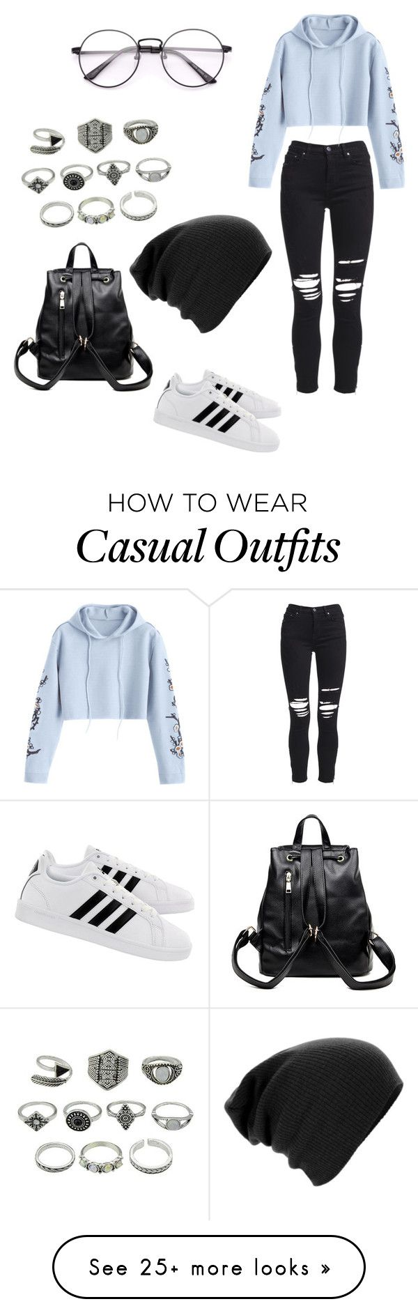 """Casual"" by kalynskye56 on Polyvore featuring AMIRI and adidas"