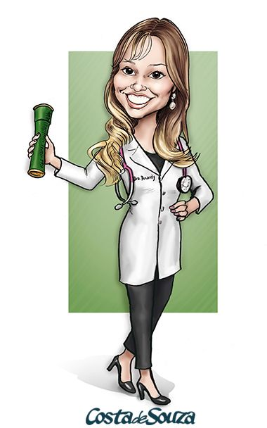 Caricatura para formatura de Medicina