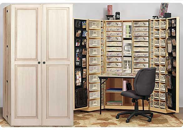 Sorting Saturday Making A Scrapbooking Area In 2020 Scrapbook Furniture Sewing Room Design Craft Room Storage