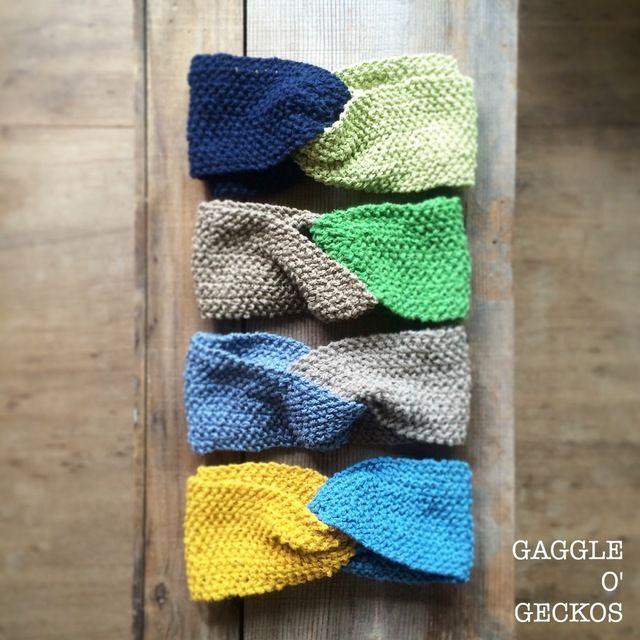 鹿の子編みのクロスヘアターバン/4colors <HB150729>