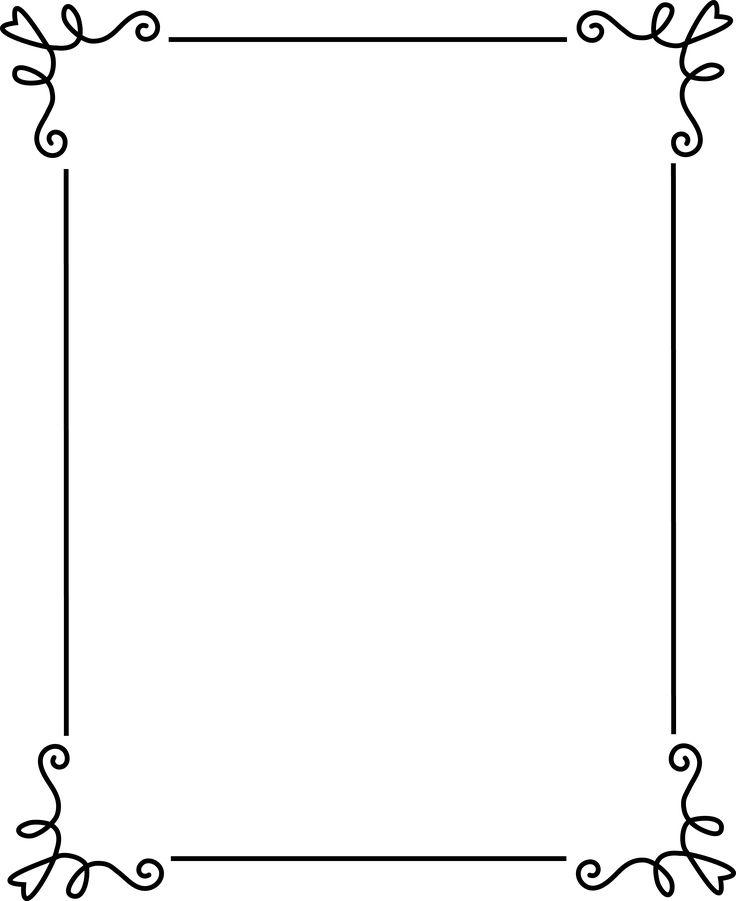 Free Frames Simple Elegant Black Frame Free Clip Art