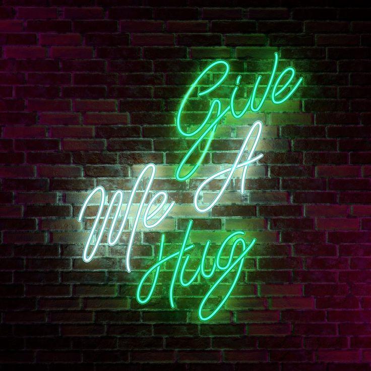 Give Me A Hug - Neon Sign by potatopug