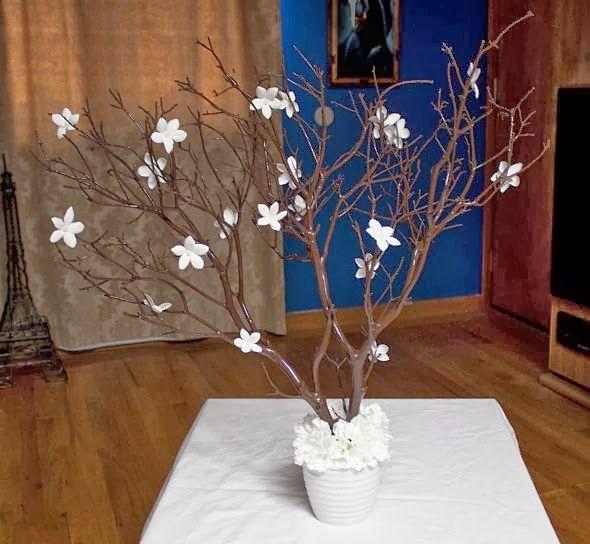 Passo a passo de arranjos florais VII  galhos secos