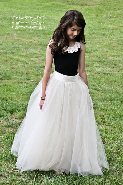 Junior Bridesmaids tulle is cheap! make my own flower girl tutus for