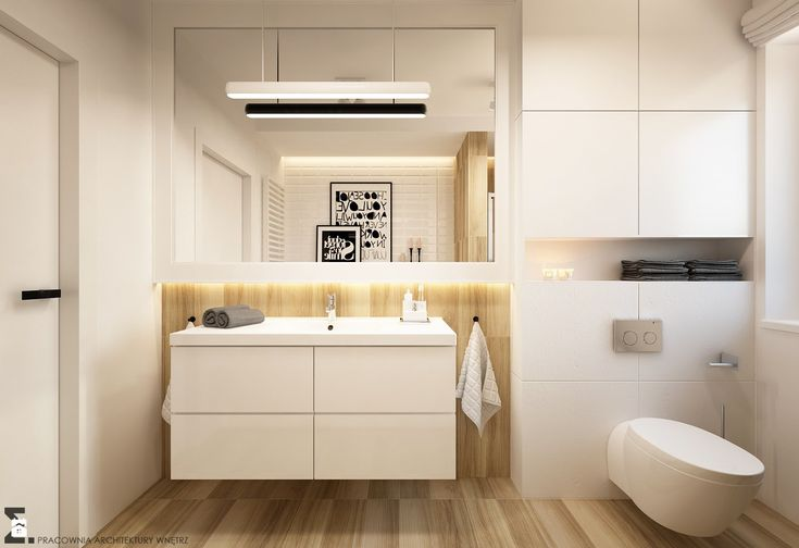 Łazienka styl Skandynawski - zdjęcie od ELEMENTY - Pracownia Architektury Wnętrz