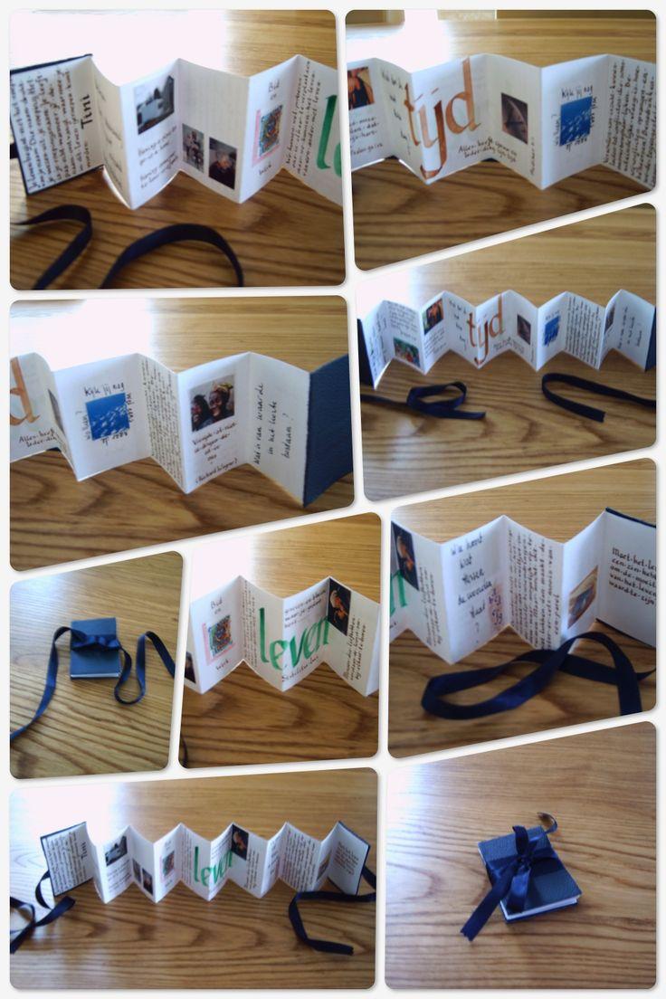Een klein boekje (leporello) gemaakt voor mijn zus