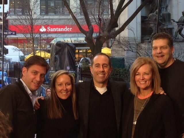 Greeny, Golic and wives with Jerry Seinfeld | ESPN ...