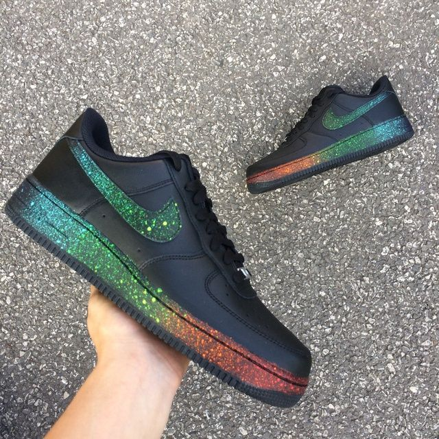 nike black rainbow shoes