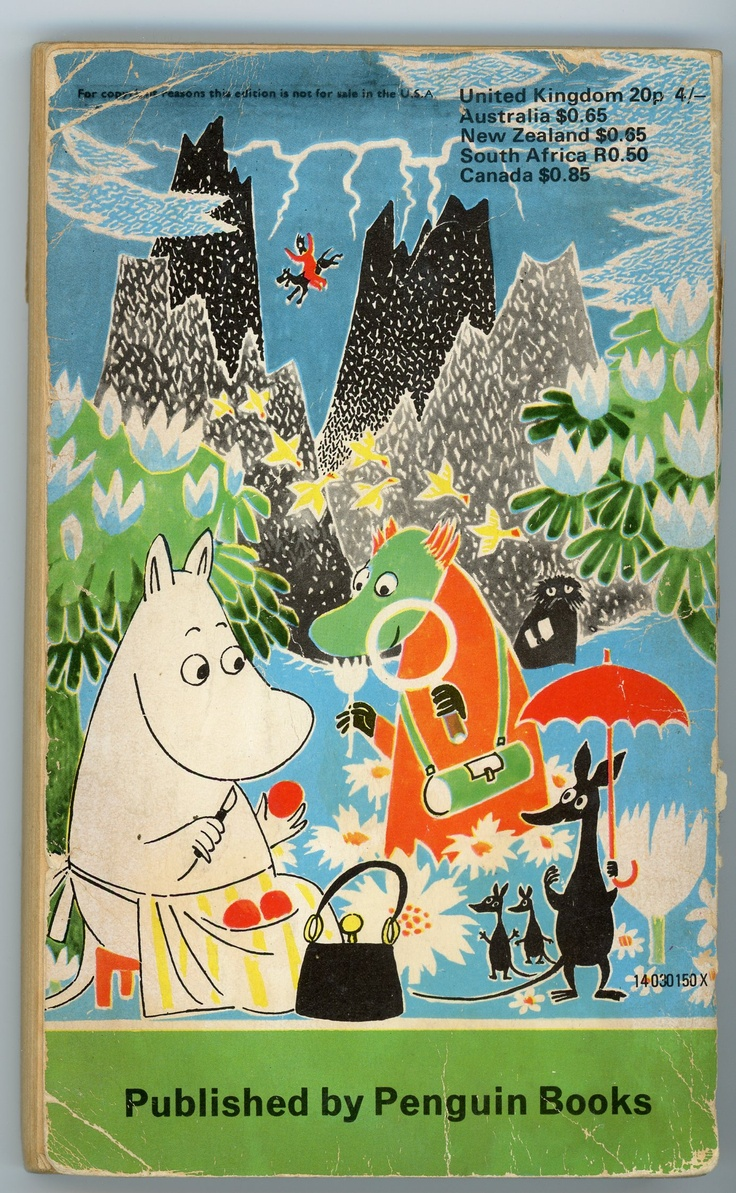 Tove Jansson, back cover to Finn Family Moomintroll