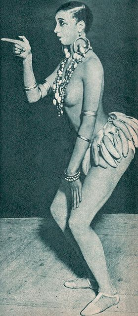 Josephine Baker    ... and the famous banana skirt.    From the Swedish ladies' magazine Femina (1957 No2)