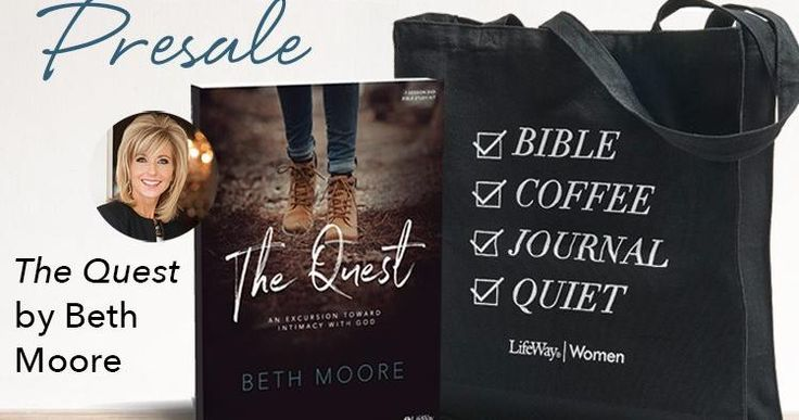 Preorder The Quest Leader Kit or Study Journal from July 18 through September 1, 2017 and receive a #LifeWayWomen tote bag for free while supplies last!