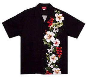 paradise black boy hawaiian shirt