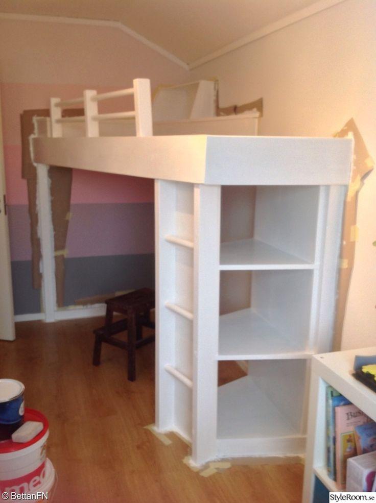 platsbyggd säng,compact living,flickrum,förvaring under säng,sovrum,barnrum
