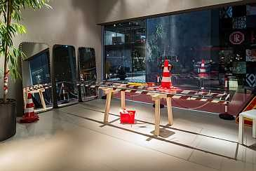 Bonaldo Stripes Limited Edition presented for the first time at the Salone del Mobile