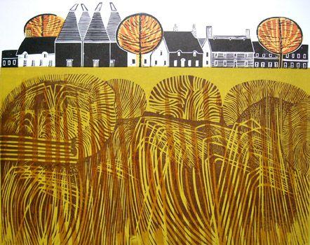 """Village 1"" by Robert Tavener 1920-2004  St. Jude's specialising in British printmaking"