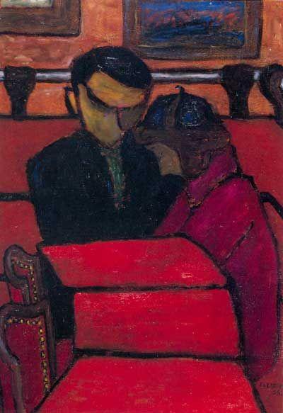 Józef Czapski - Czerwona kawiarnia, 1956