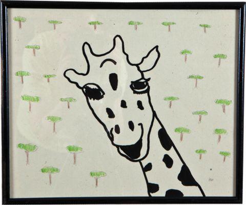 John Derian Company Inc — Giraffe with Trees