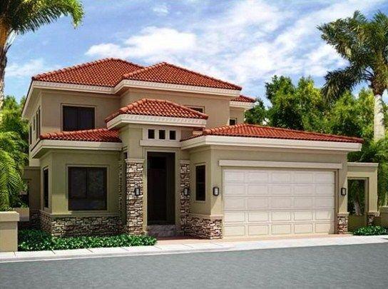 Fachadas de casas con tejas esmaltadas