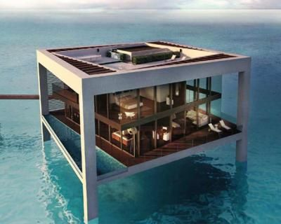 Ocean Pool    This residence (to be completed in 2010) near Abu Dhabi will have a garden spa pool, infinity pool, and indoor reflecting pools, but to hover over the world's largest salt-water pool—that's impressive.