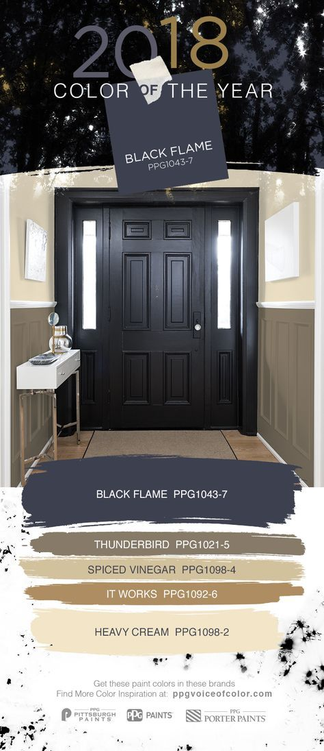 Black interior doors make a statement try the 2018 color - Front door colours 2018 ...