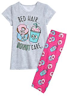 Donut Cropped Legging Pajama Set