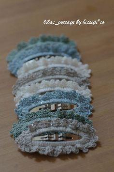 縁編み*ぱっちんピン(簡単編)の作り方 編み物 編み物・手芸・ソーイング   アトリエ 手芸レシピ16,000件!みんなで作る手芸やハンドメイド作品、雑貨の作り方ポータル