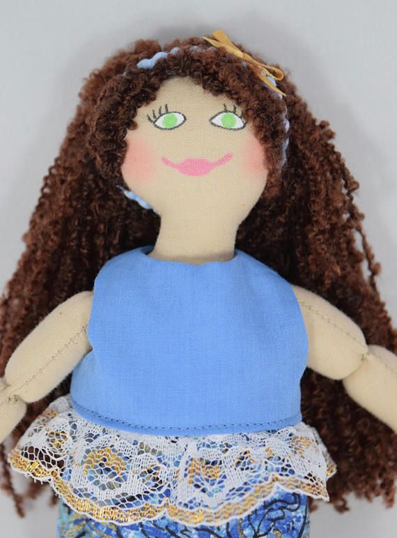 Doll in Blue Doll Clothes  Toy For Kids
