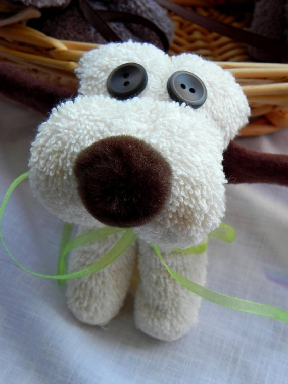 Washcloth Puppies by eddiejl on Etsy, $6.00