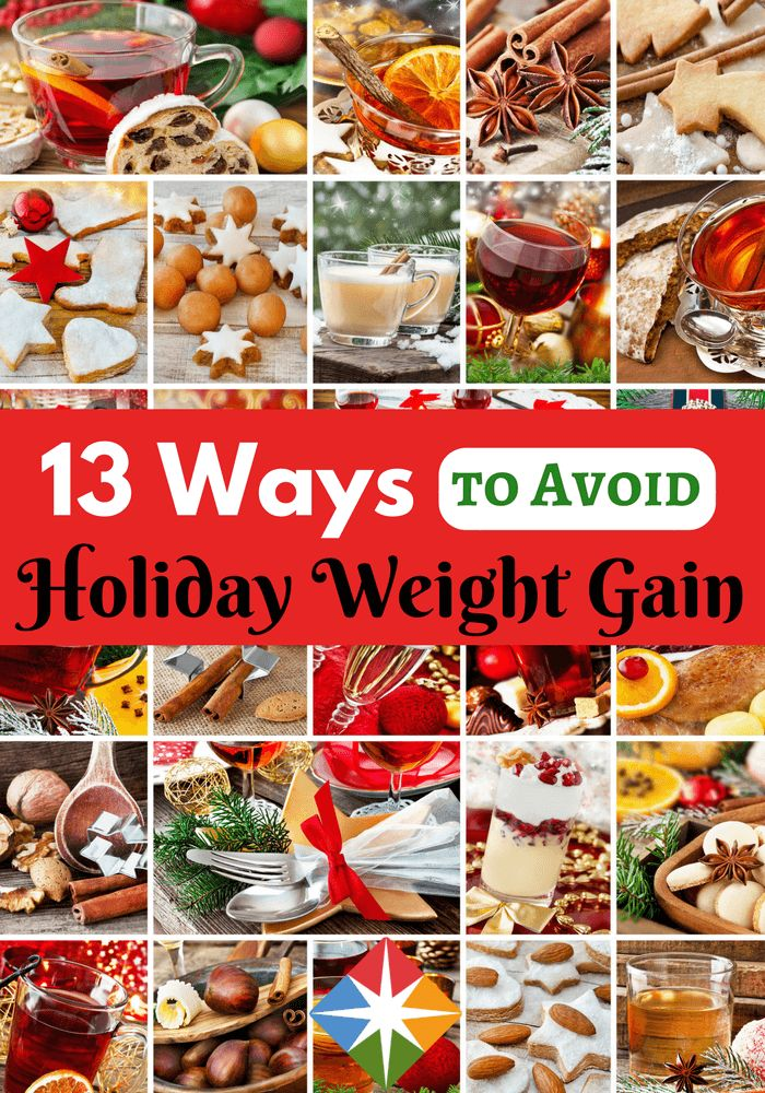 Avoid holiday weight gain with our 13 tips to getting through without giving up your diet or your health.