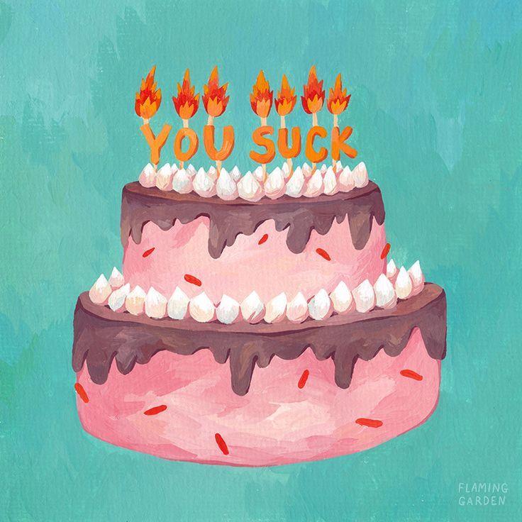 Geburtstagskarte Kuchen Mit Kerzen Kunst Von Flaming Garden