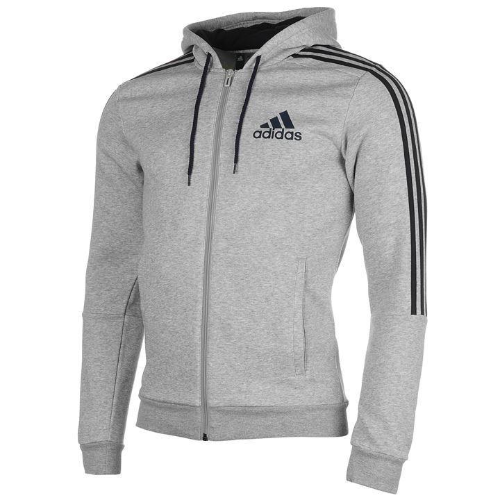adidas 3 Stripes Logo Zip Hoodie Mens | Birthday | Hoodies ...