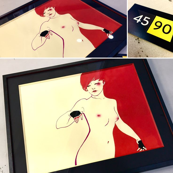 Rabbit Heart by Eliza Fyre. Custom framed with hand painted bevels by 45 90 Framing & Gallery