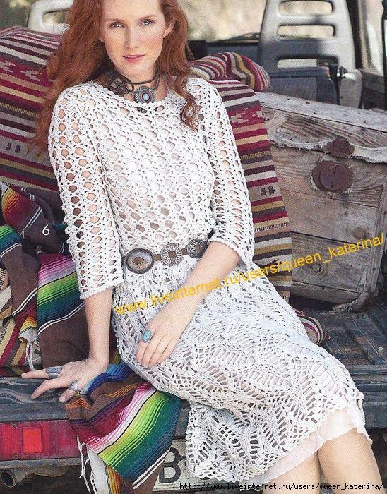 Inspirações de Croche com Any Lucy: Vestido                              …
