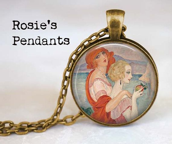 Pendant Necklace  On the Road to Anna Capri by by RosiesPendants, $14.50