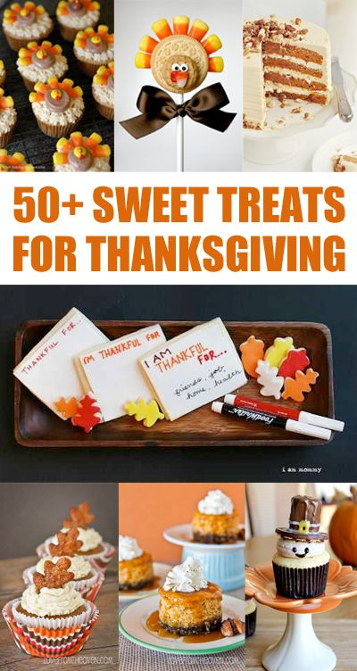 A fantastic collection of desserts for Thanksgiving. Pin and save this one, you'll be glad you did!