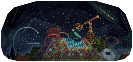 """Today on the Google home page in America is a special Google logo for Maria Mitchell, the first professional female astronomer.      She is best known for the discovery of a comet named after her, the """"Miss Mitchell's Comet..."""