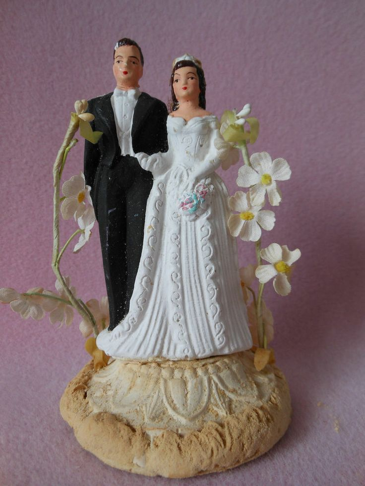 17 Best 1000 images about Vintage Wedding Cake Toppers on Pinterest