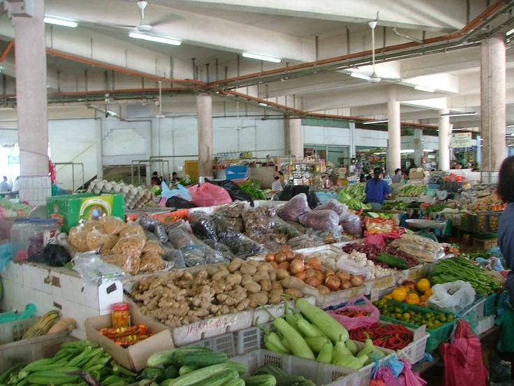 op een markt in Maleisie